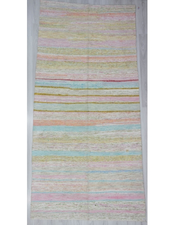 Striped Vintage Turkish Rag rug