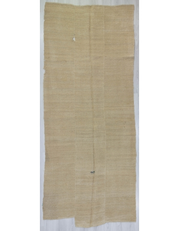 Vintage Natural Ivory Turkish Hemp Kilim Rug