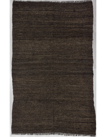 Vintage Brown Plain Kilim Rug
