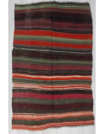 Unique Vintage Striped Kelim Rug