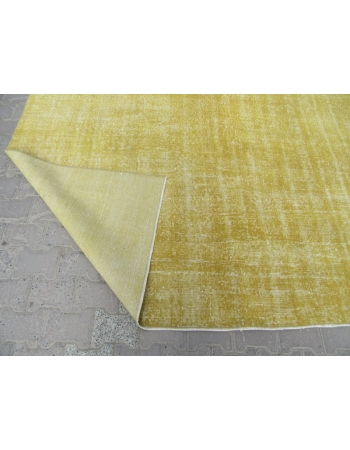 Yellow Vintage Plain Turkish Rug