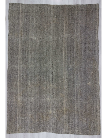 Vintage large modern gray Turkish kilim rug