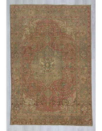 Vintage washed out Persian rug