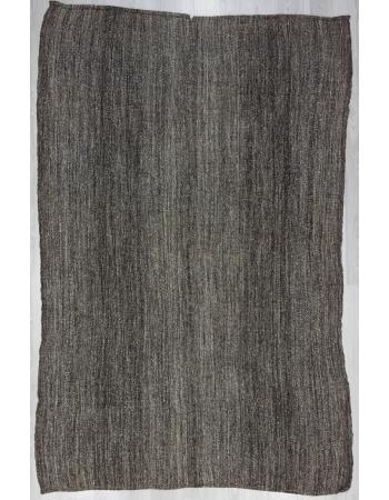 Vintage Dark Gray Kelim Rug