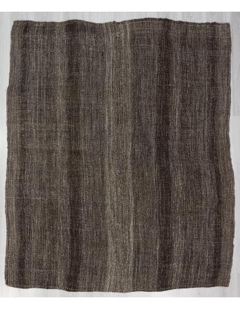 Dark Gray Vintage Kilim Rug