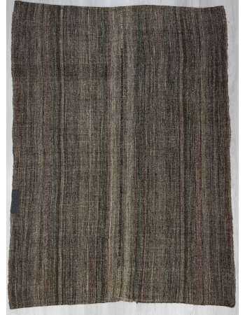 Dark Gray Unique Vintage Turkish Kilim
