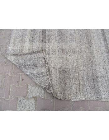 Vintage Modern Gray Kilim Rug