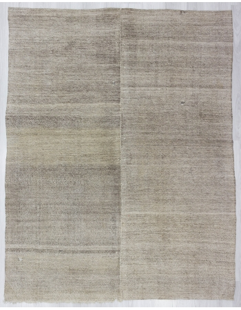 Gray Vintage Modern Turkish Kilim Rug