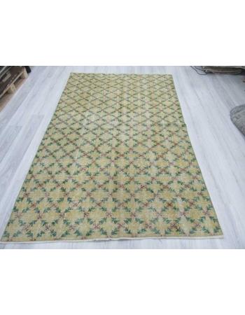 Vintage Turkish art deco rug