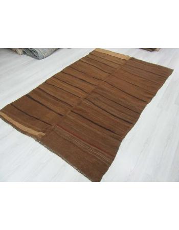 Vintage brown Turkish wool rug