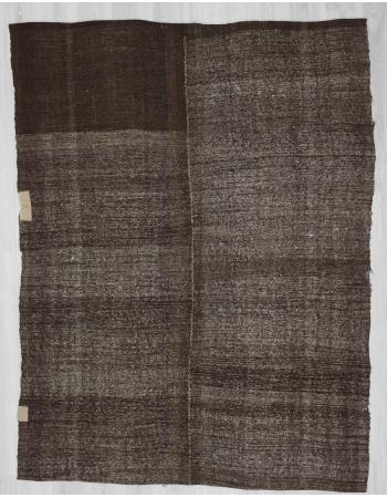 Vintage modern goat hair kilim rug