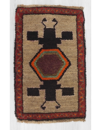 Vintage decorative mini Kars rug
