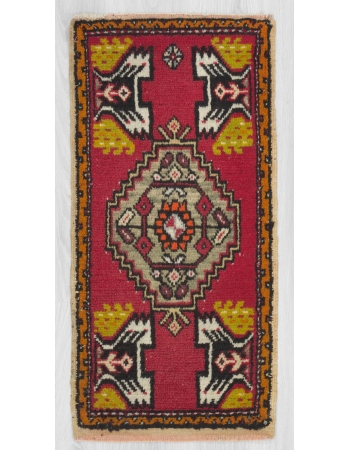 Vintage Turkish mini rug