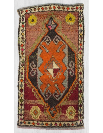 Vintage mini Turkish Kars rug