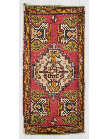 Vintage mini Turkish rug