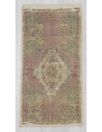 Distressed mini Turkish rug
