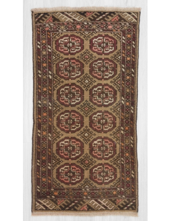 Vintage small Turkish Kars rug