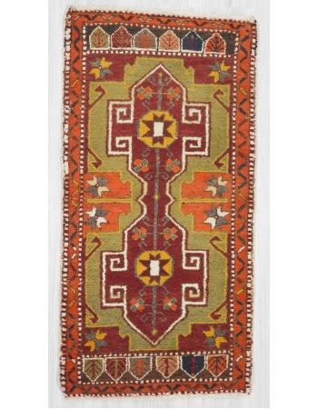 Vintage mini Oushak rug