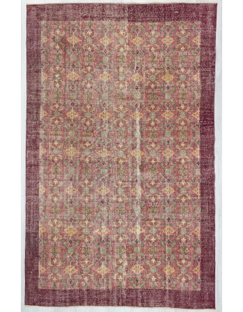 Vintage one of a kind floral Turkish rug