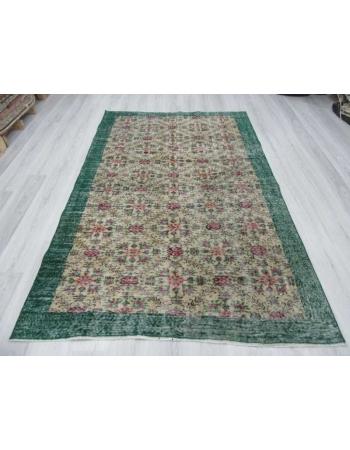Floral vintage Turkish rug