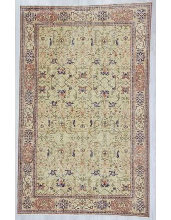 Vintage one of a kind Turkish Oushak rug