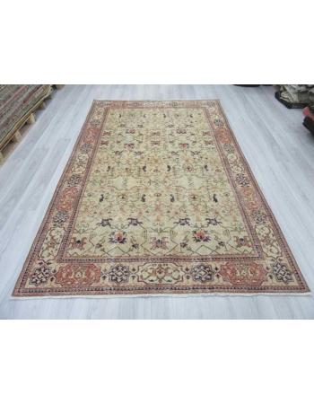 Vintage one of a kind Turkish Oushak rug