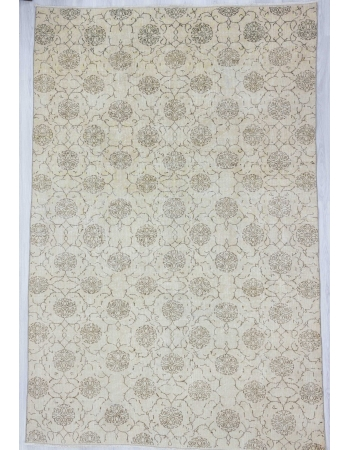 Vintage washed out floral Turkish rug