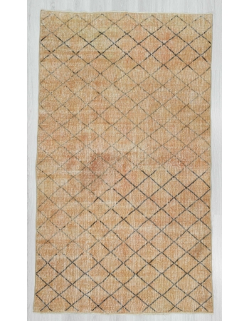 Vintage one of a kind modern Turkish rug