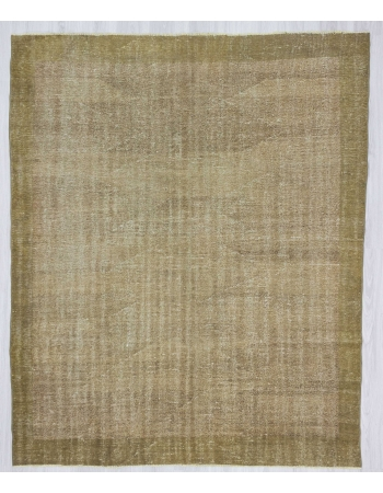 Vintage distressed modern Turkish rug
