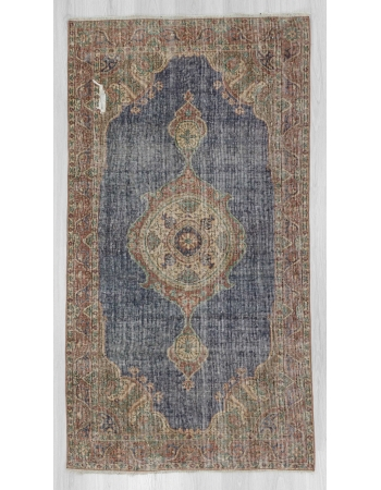 Vintage small Turkish Oushak rug