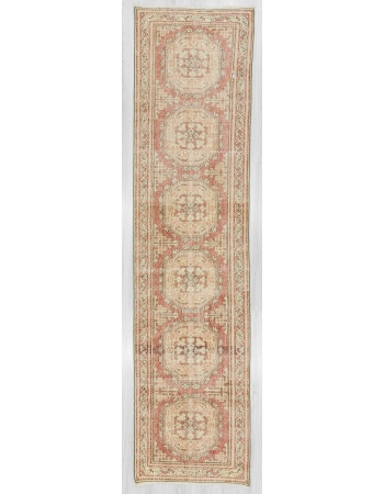 Vintage decorative Turkish Oushak Runner rug