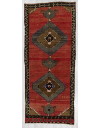 Decorative vintage Turkish Kars rug