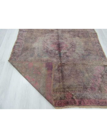 Vintage purple overdyed Turkish rug