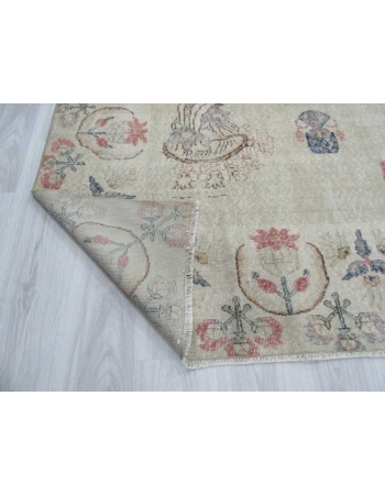 Large vintage Turkish Oushak rug