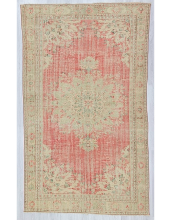 Distressed large Turkish Oushak rug