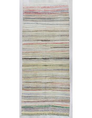 Vintage decorative rag rug