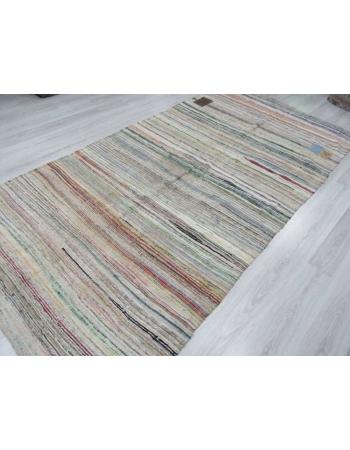 Vintage Turkish rag rug