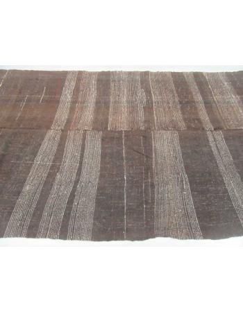 Vintage one of a kind brown kilim rug