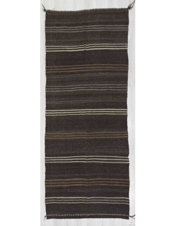 Vintage striped natural kilim rug
