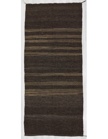 Vintage dark brown kilim rug