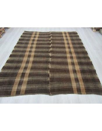 Vintage modern Turkish kilim rug