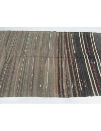 Vintage unique Turkish kilim rug