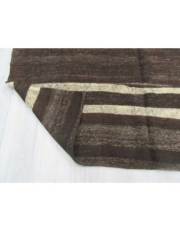 Vintage modern striped Turkish kilim rug