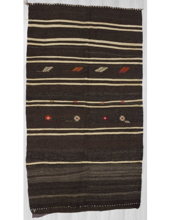 Vintage natural striped kilim rug 45-55 years old.In very good condition