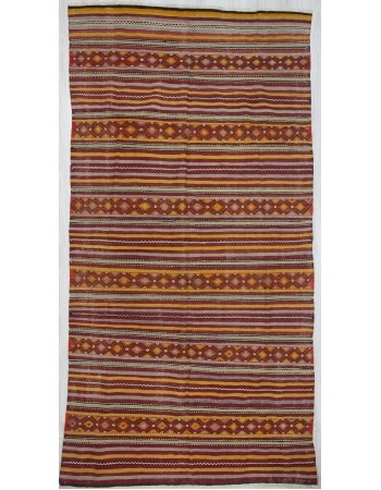 Vintage Striped Turkish Embroidered kilim rug