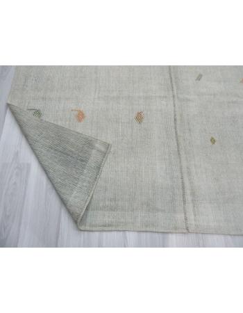 Vintage modern gray Turkish kilim rug