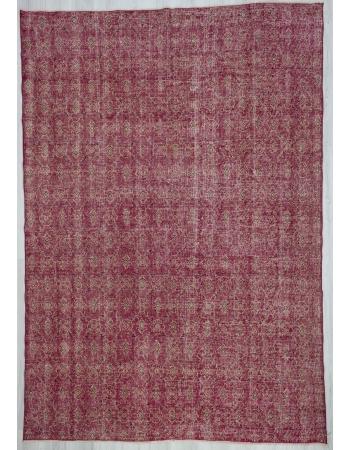 Vintage floral Turkish deco rug