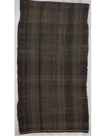 Vintage dark gray kilim rug