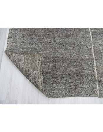 Vintage unique modern gray kilim rug