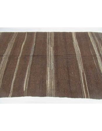 Vintage brown kilim rug
